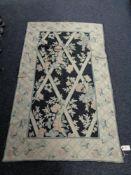 A Kashmiri hand stitched wool chain hanging 153 cm x 92 cm