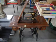 A Jones treadle sewing machine