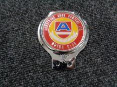 A vintage motor car badge - Armstrong Cork company ltd motor club