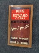 A display cabinet with oak frame - King Edward's Cigars CONDITION REPORT: 40.