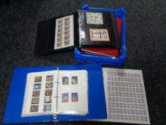 Six folders and albums of British twentieth century stamps