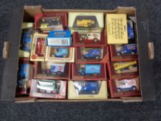 A box of die cast model vehicles, Matchbox, day's gone,