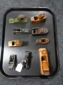 Nine miniature planes,
