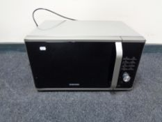 A Samsung microwave oven