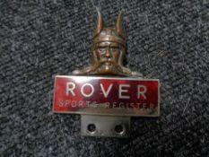 A vintage motor car badge - Rover Sports Register