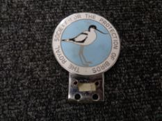A vintage motor car badge - Royal Society of the Protection of birds