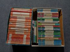 Two small boxes of vintage Penguin books