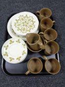 A twenty-one piece Maidstone J&G Meakin coffee set