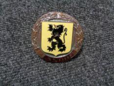 A vintage motor car badge - Flanders motor club