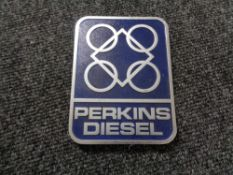 A vintage motor car badge - Perkins diesel