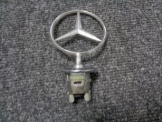A vintage motor car badge - Mercedes Benz