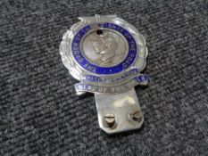 A vintage motor car badge - The order of the knights of the road,