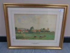 John Teasdale (1848-1926) : Lamesley Village near Gateshead, watercolour, signed, dated 1902,