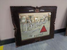 """A Twentieth Century Advertising Pub Mirror - """"Bass IN BOTTLE"""","""