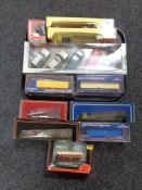 A tray of die cast model vehicles,