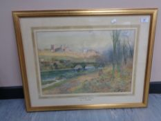 Thomas Swift Hutton (1865 - 1935) : Richmond Castle, watercolour, signed, 35 cm x 52 cm, framed.