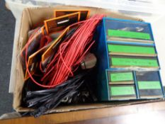 A box containing model making items, Gauge Master railway insulated wire,