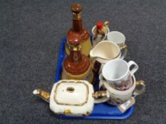 Two Ringtons 1953 Elizabeth II Coronation jugs together with further ceramics including two Bells