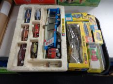 A quantity of die cast model vehicles toy include Corgi gift set 8 Lions of Longleat together with
