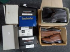 A quantity of un-used boots and shoes