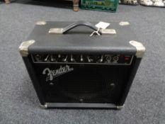 A Fender front man guitar amplifier