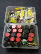 Two crates of model making items etc