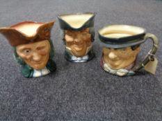 Three large Royal Doulton character jugs - Vicar of Bray,