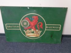 A reproduction British Railway sign on board