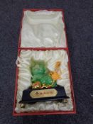 A Chinese Zhontian Jin Fu happy pig figure in display box, height 17 cm.