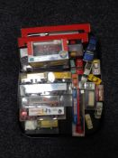 A tray of die cast vehicles,