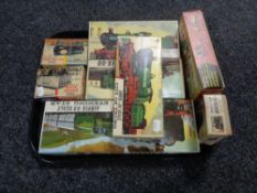 A tray of seven vintage Airfix modelling kits,