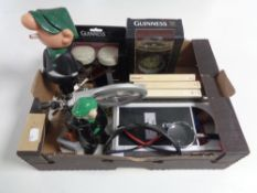 A box of Wade Andy Cap money box, Guinness items,