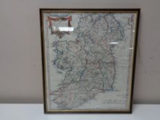 A colour map after Robert Morden, The Kingdom of Ireland,
