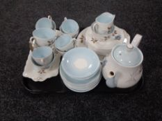 A tray of thirty eight piece Queen Anne Giselle tea service