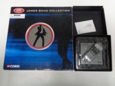 A Corgi James Bond collection film canister eight piece die-cast set (boxed) together with a