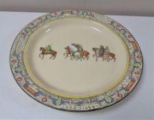 A Royal Doulton Canterbury Pilgrims shallow bowl,
