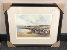 After Tom MacDonald : Newton by the Sea, reproduction in colours, signed in pencil, 21 cm by 30 cm,