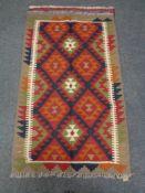 A Maimana kilim rug 130 cm x 80 cm