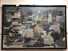 Continental school, abstract urban scene,