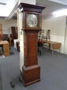 A 19th century oak cased eight day longcase clock,