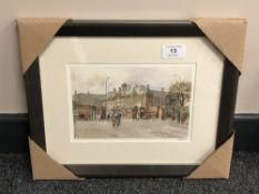 After Tom MacDonald : The Royal Victoria Infirmary, reproduction in colours, signed in pencil,