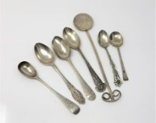 Assorted silver spoons
