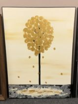 Piero Montanelli : Dandelion, oil on canvas, 90 cm by 65 cm, initialed and dated verso.