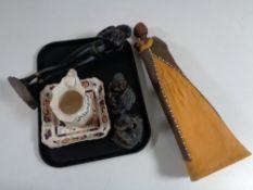 A tray containing Mason's Kensington shallow dish and jug,