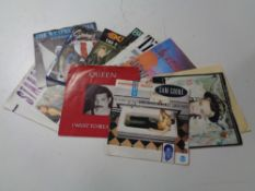Two cases containing vinyl 45's to include Cliff Richard, Connie Francis, Rod Stewart,