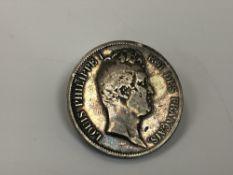 An 1831 5 Francs coin