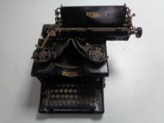 A vintage Royal typewriter.