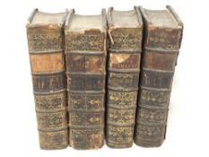 Four eighteenth century volumes - Opera Omnia, Publii Ovidii Nasonis, with frontis pieces,