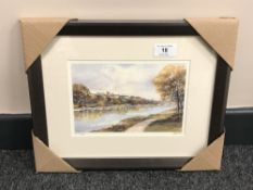 After Tom MacDonald : Corbridge, reproduction in colours, signed in pencil, 13 cm by 20 cm, framed.