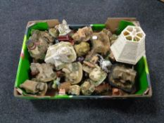 A box containing a large quantity of assorted cottage ornaments.